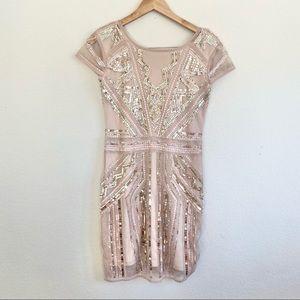 Boohoo Cap Sleeve Sequined Mini Dress NWOT
